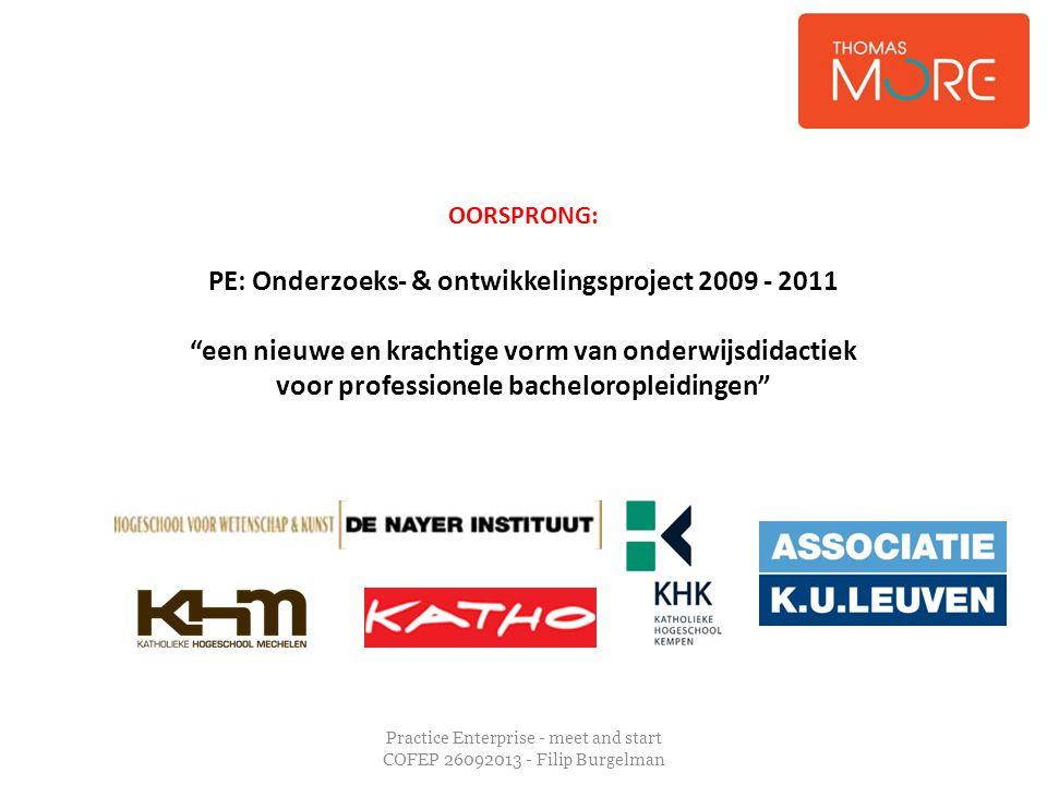 PE: Onderzoeks- & ontwikkelingsproject 2009 - 2011
