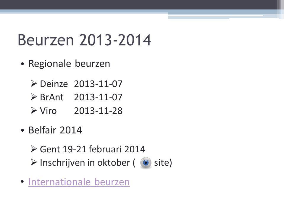 Beurzen 2013-2014 Regionale beurzen Belfair 2014