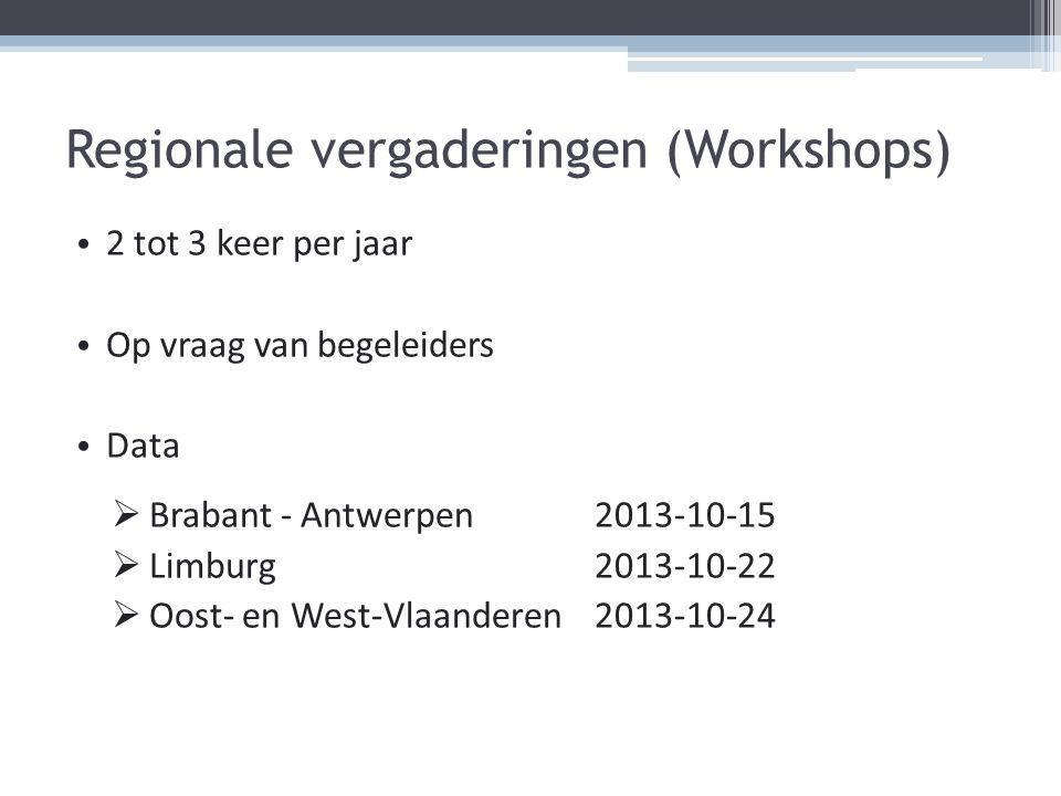 Regionale vergaderingen (Workshops)