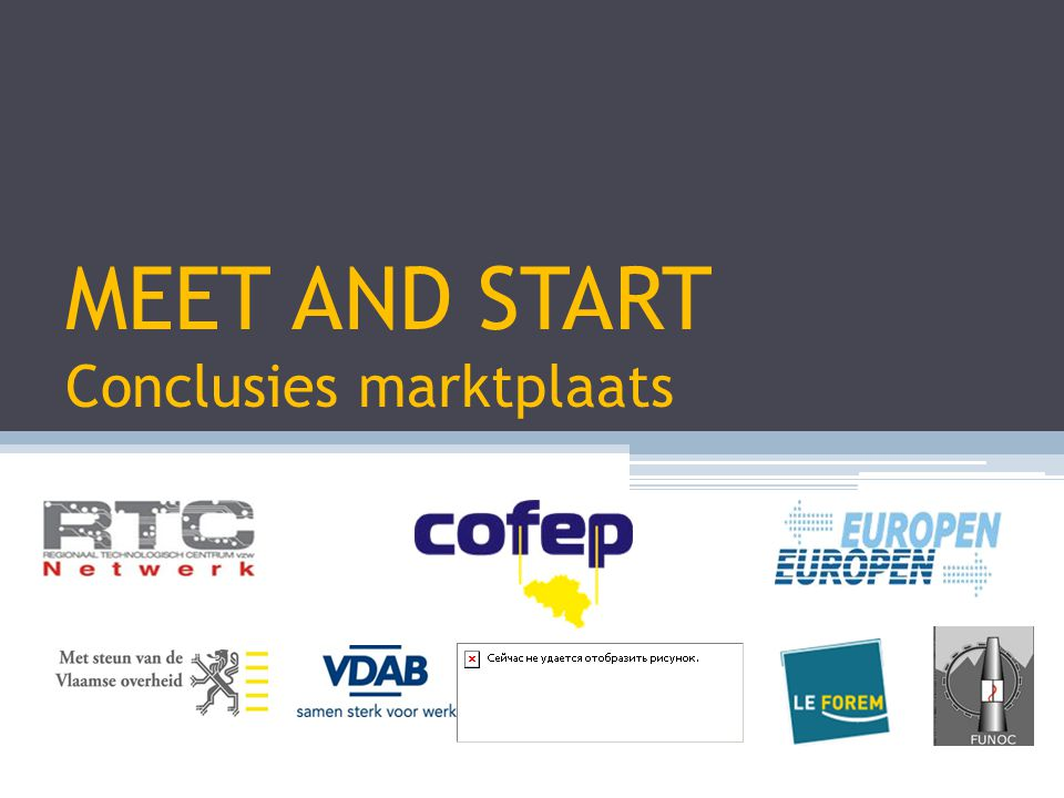 MEET AND START Conclusies marktplaats