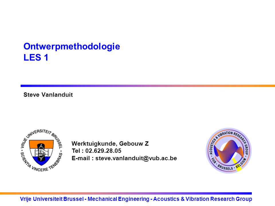 Ontwerpmethodologie LES 1