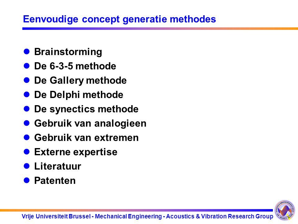Eenvoudige concept generatie methodes