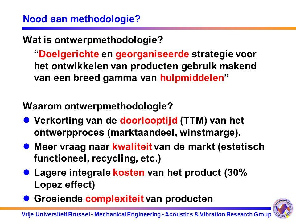 Nood aan methodologie Wat is ontwerpmethodologie