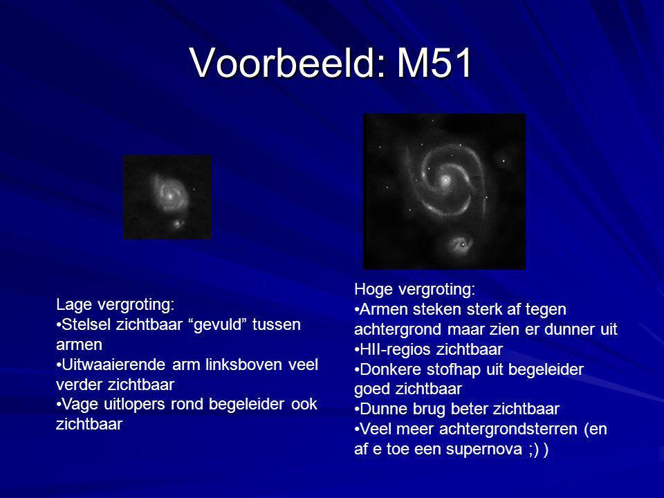 Voorbeeld: M51 Hoge vergroting: