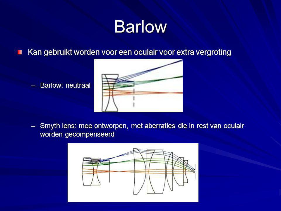 Barlow Kan gebruikt worden voor een oculair voor extra vergroting