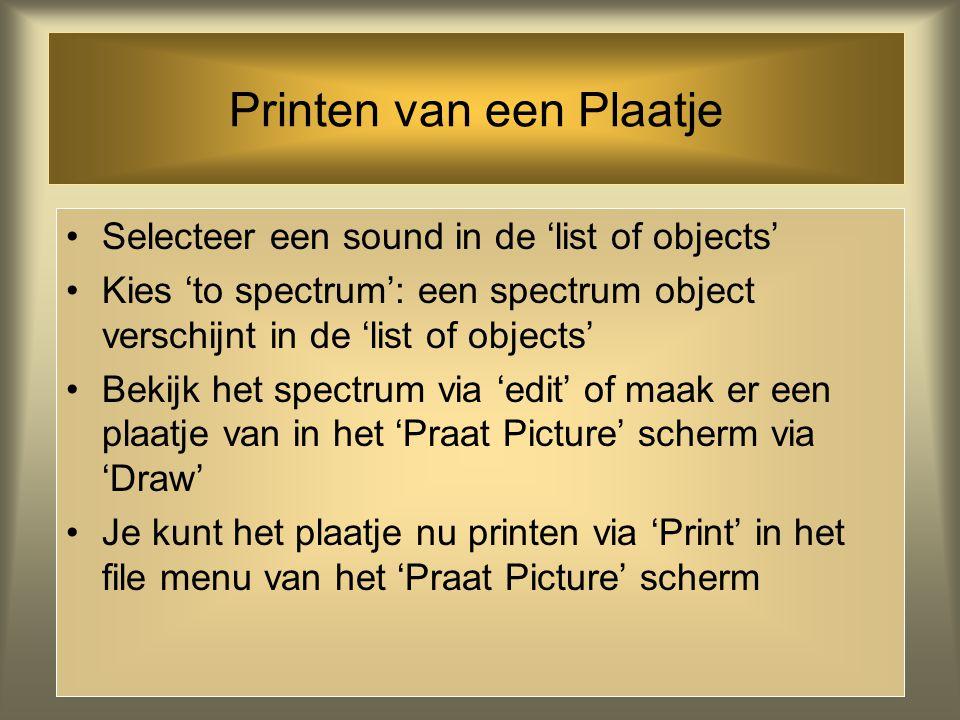 Printen van een Plaatje