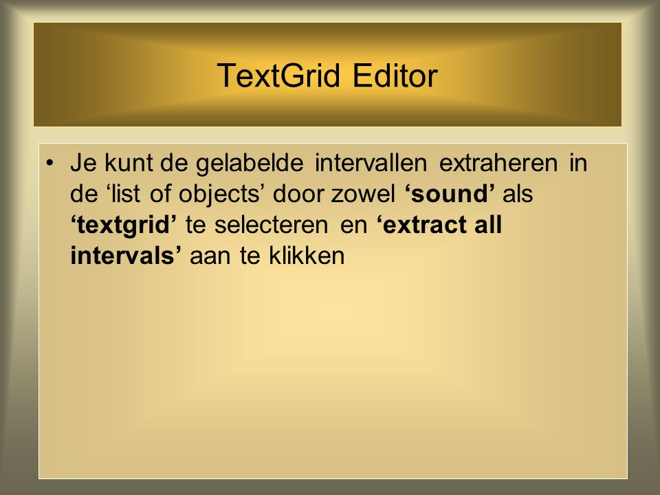 TextGrid Editor
