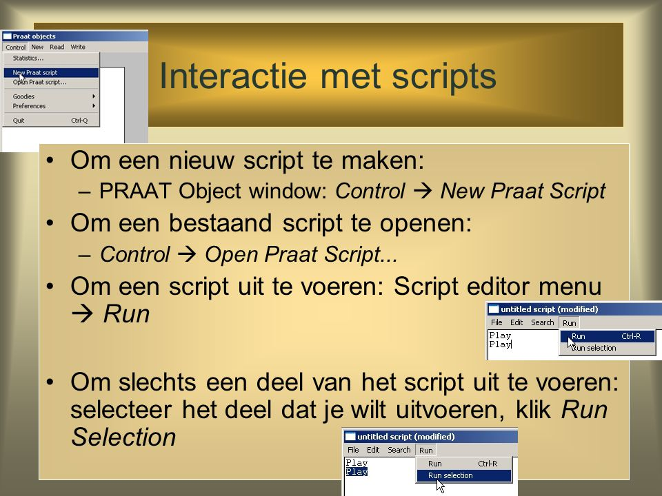 Interactie met scripts