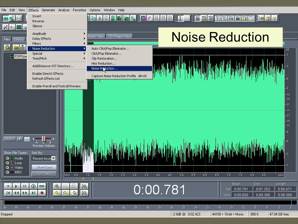 Noise Reduction Noise Reduction