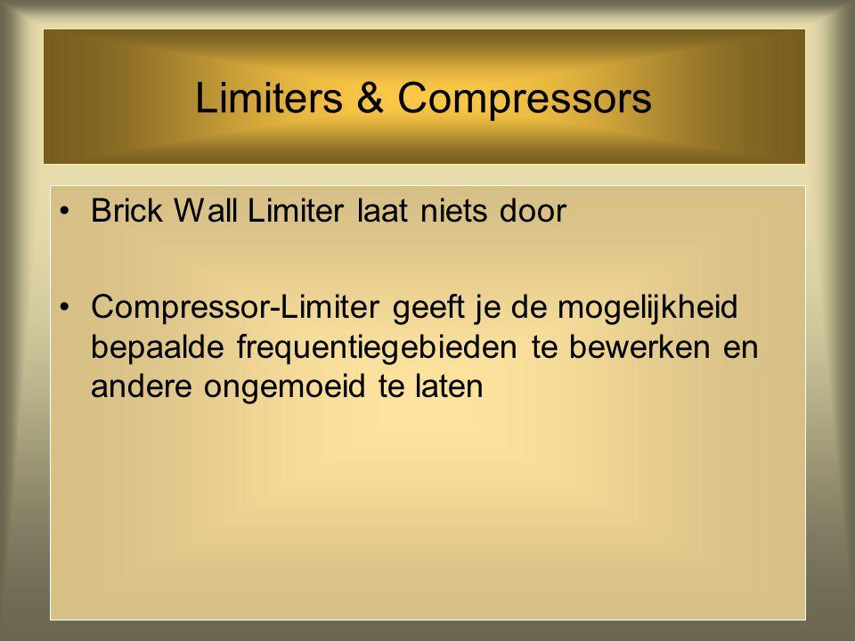 Limiters & Compressors