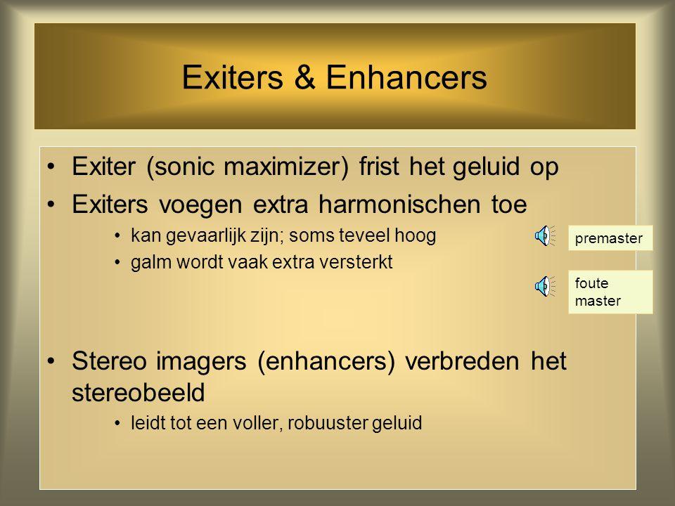 Exiters & Enhancers Exiter (sonic maximizer) frist het geluid op