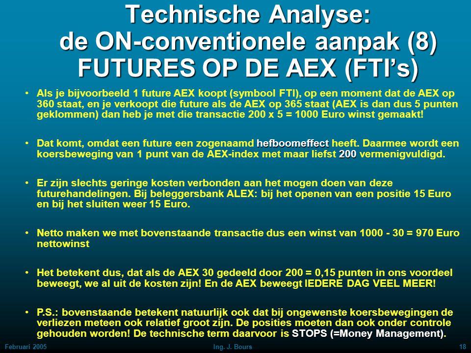 Technische Analyse: de ON-conventionele aanpak (8) FUTURES OP DE AEX (FTI's)