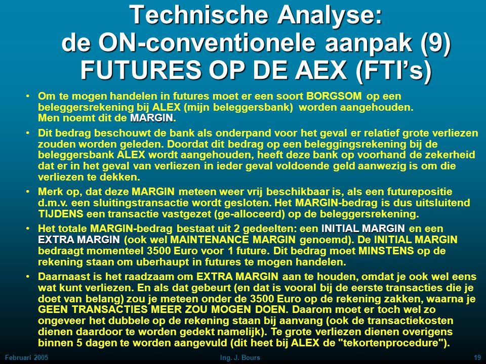 Technische Analyse: de ON-conventionele aanpak (9) FUTURES OP DE AEX (FTI's)