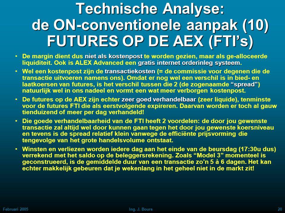 Technische Analyse: de ON-conventionele aanpak (10) FUTURES OP DE AEX (FTI's)