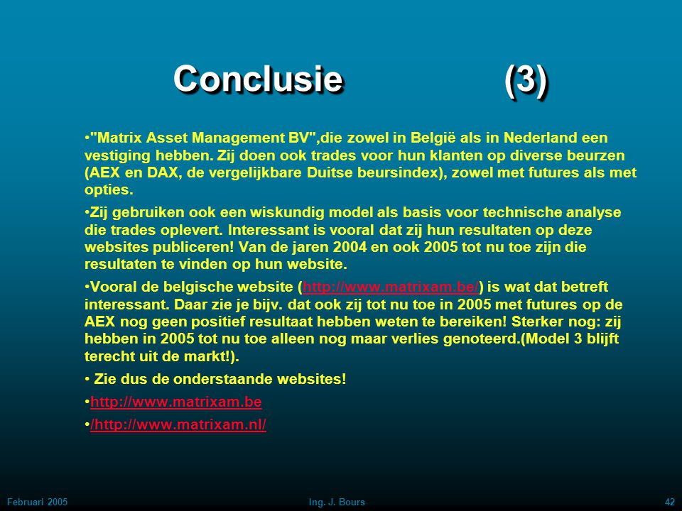Conclusie (3)