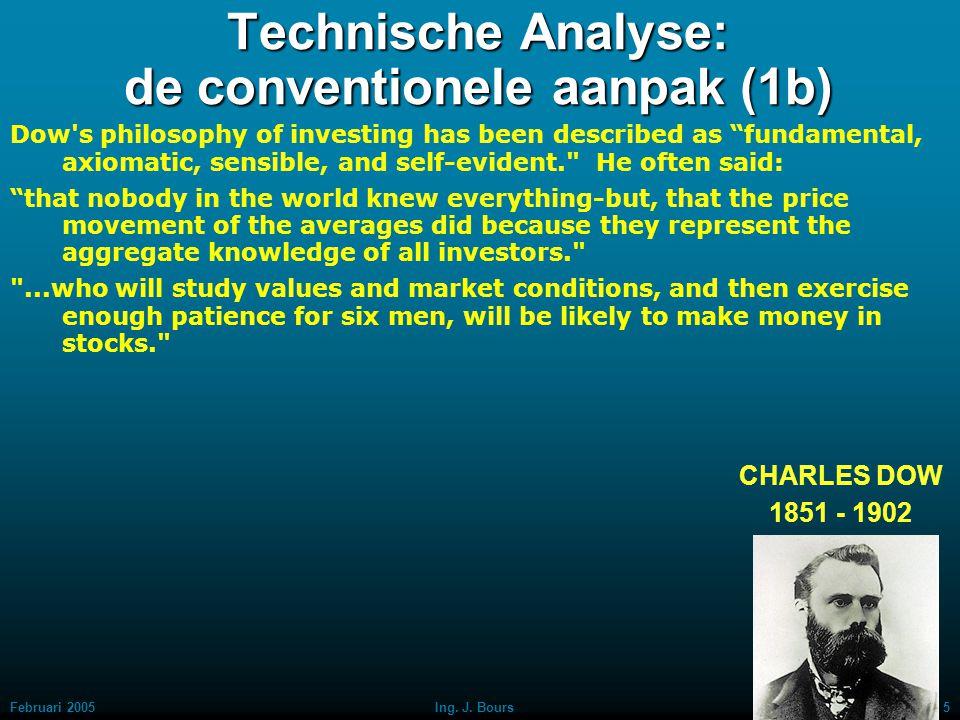 Technische Analyse: de conventionele aanpak (1b)