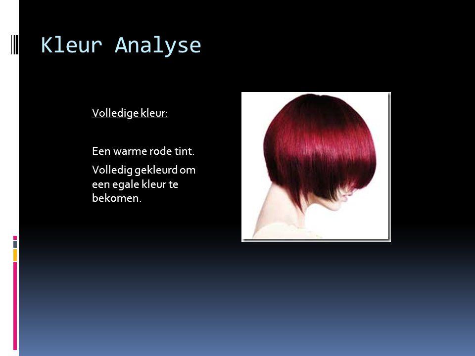 Kleur Analyse Volledige kleur: Een warme rode tint.
