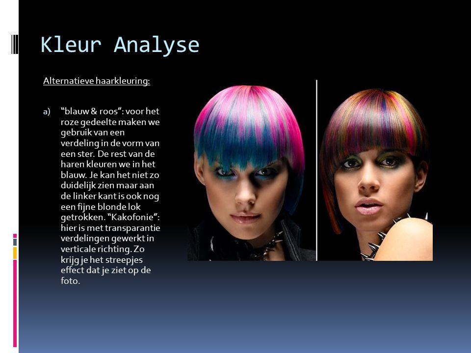 Kleur Analyse Alternatieve haarkleuring:
