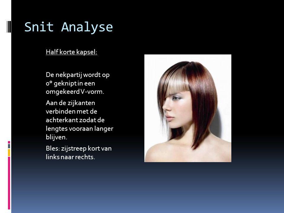 Snit Analyse Half korte kapsel: