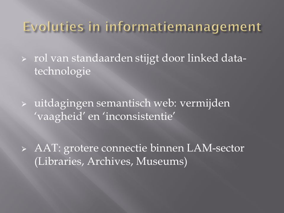 Evoluties in informatiemanagement