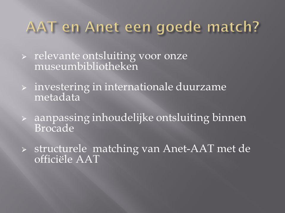 AAT en Anet een goede match