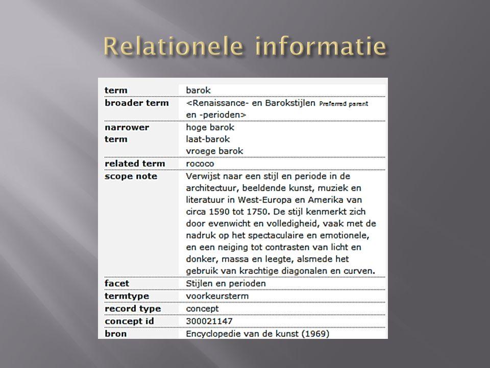 Relationele informatie