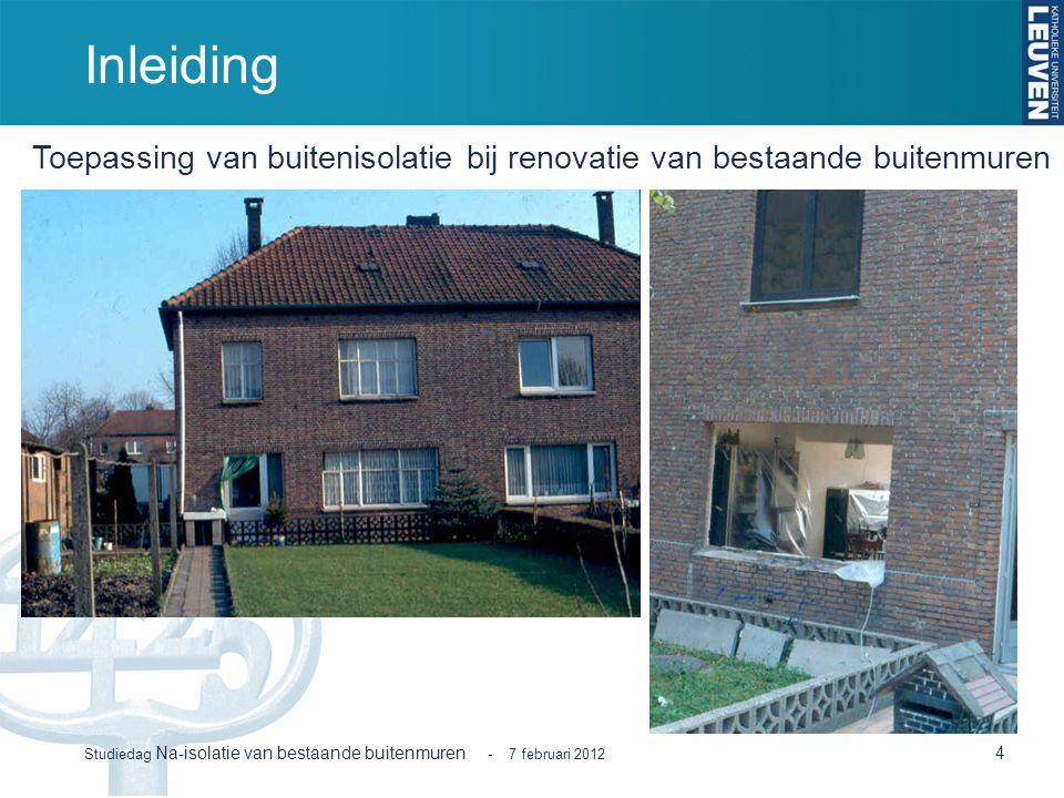 Toepassing van buitenisolatie bij renovatie van bestaande buitenmuren