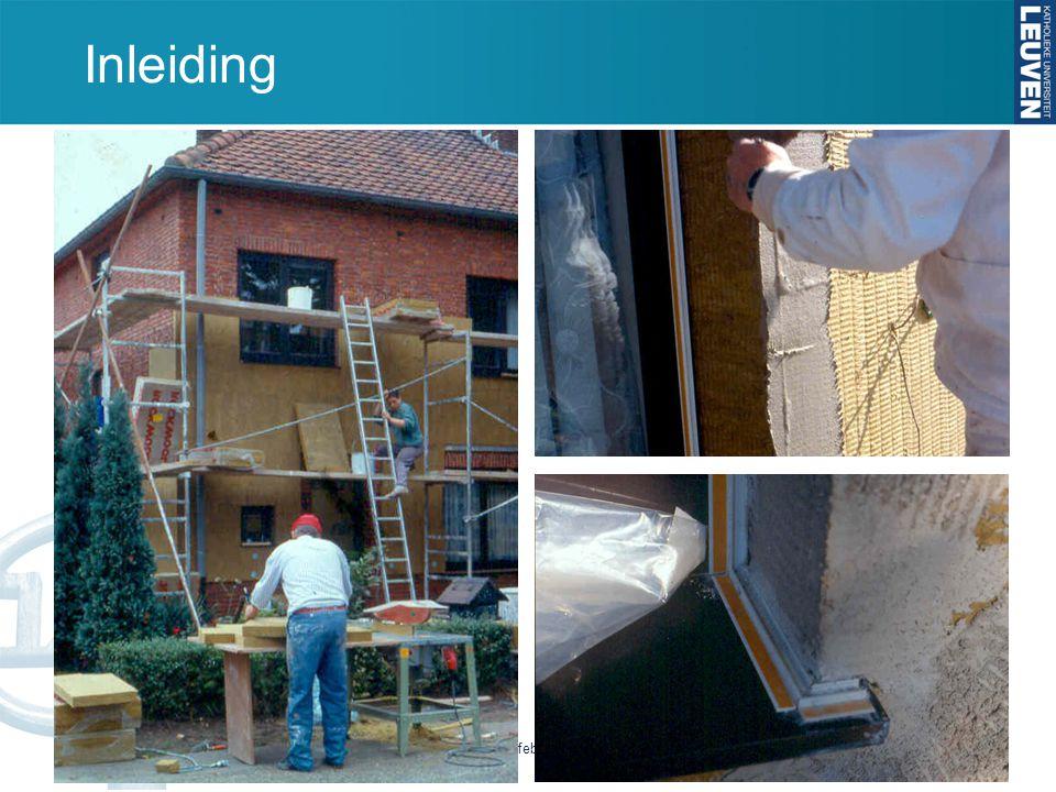 Inleiding Studiedag Na-isolatie van bestaande buitenmuren - 7 februari 2012