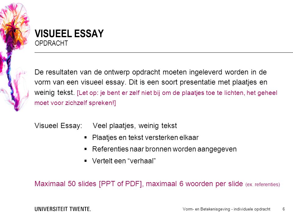 Visueel essay opdracht