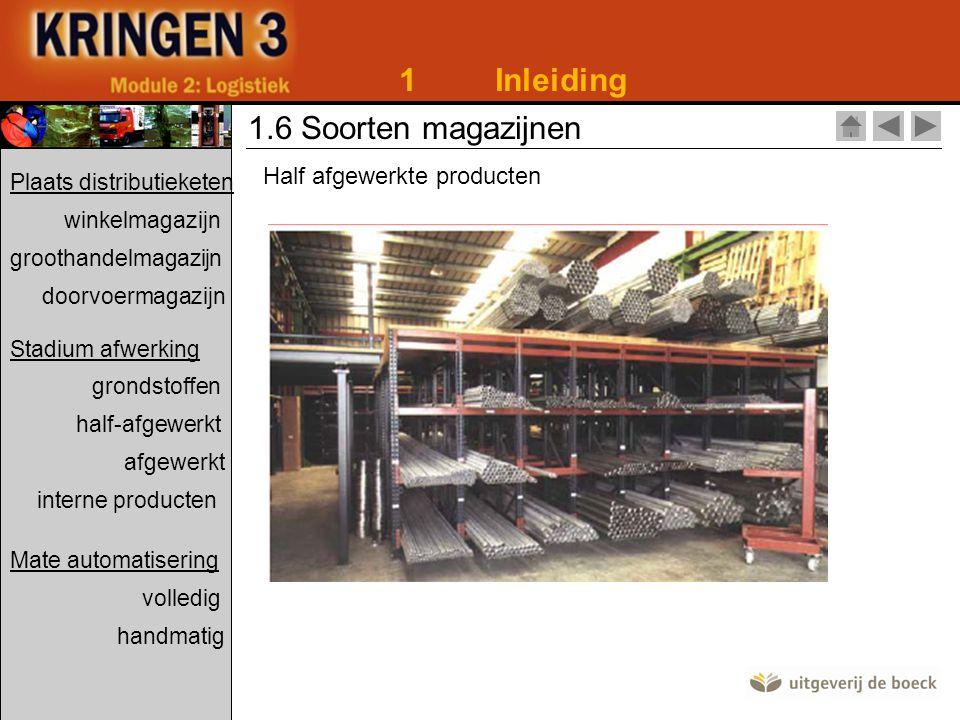 1 Inleiding 1.6 Soorten magazijnen Half afgewerkte producten