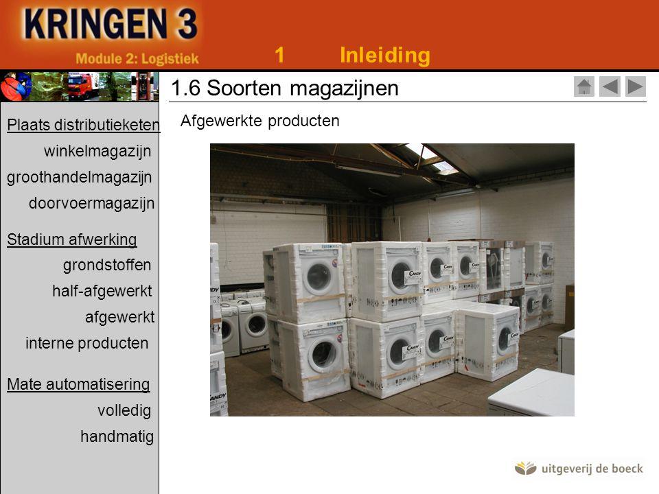 1 Inleiding 1.6 Soorten magazijnen Afgewerkte producten