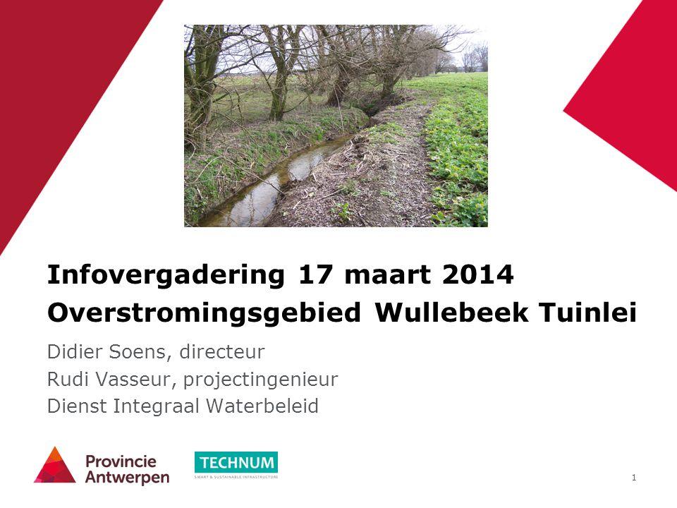 Infovergadering 17 maart 2014 Overstromingsgebied Wullebeek Tuinlei