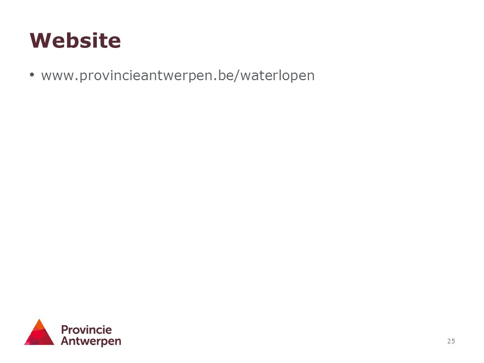 Website www.provincieantwerpen.be/waterlopen