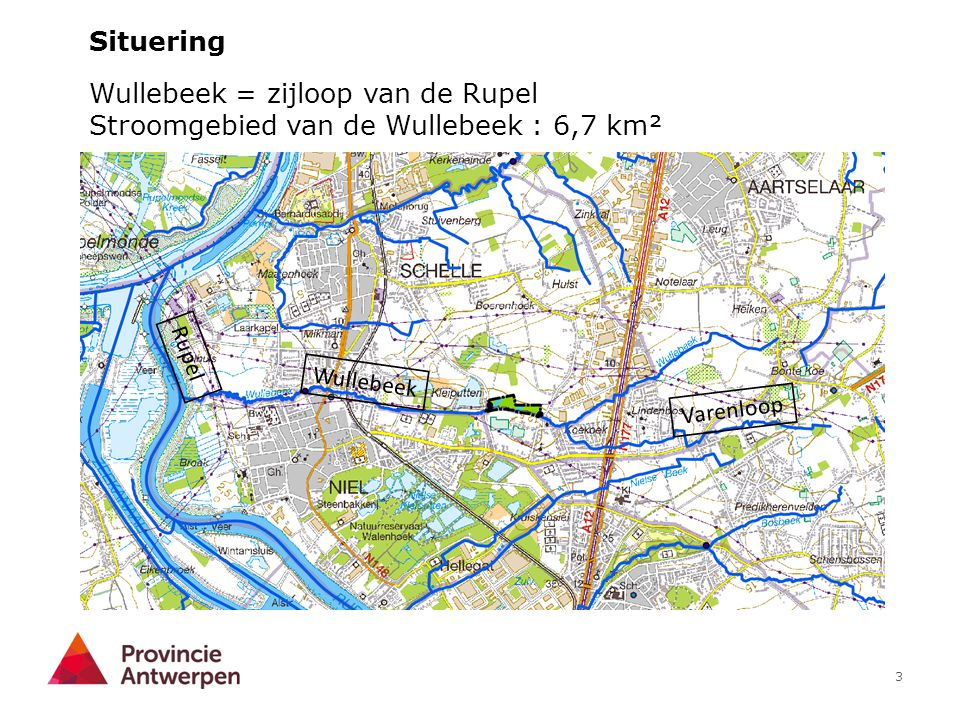 Wullebeek = zijloop van de Rupel