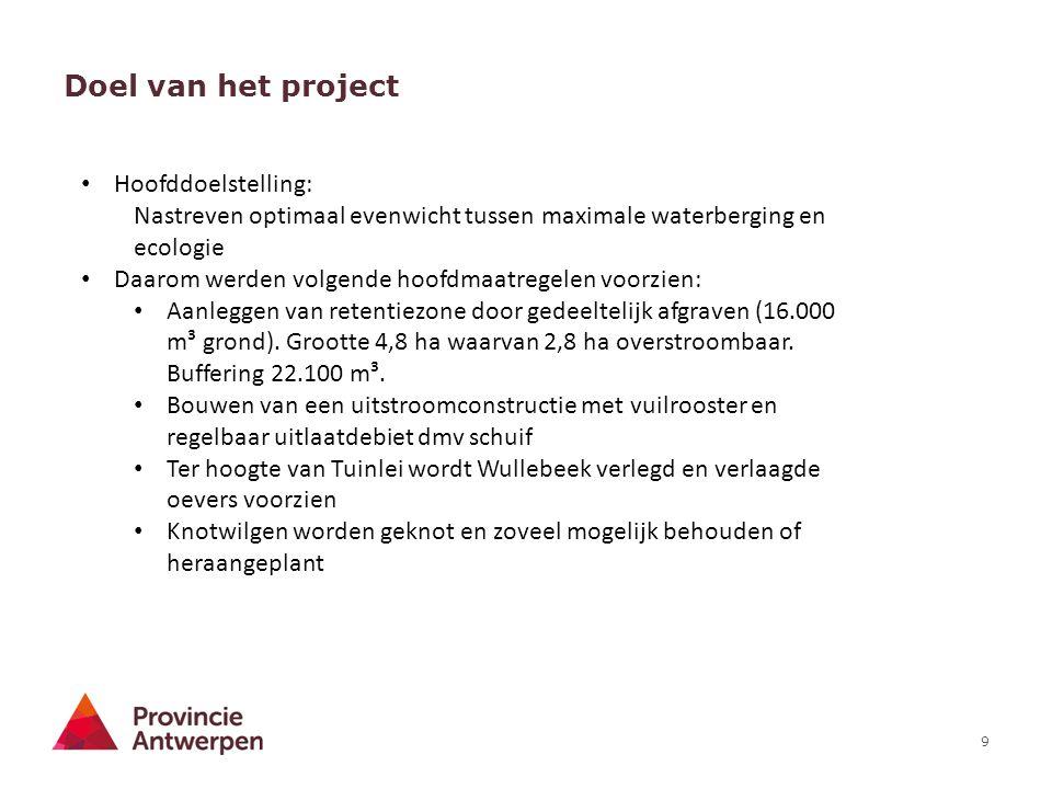 Doel van het project Hoofddoelstelling: