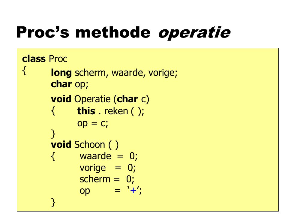 Proc's methode operatie