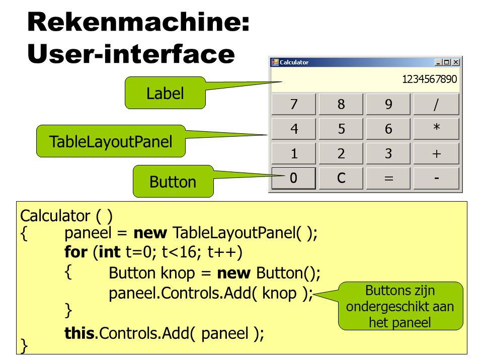 Rekenmachine: User-interface