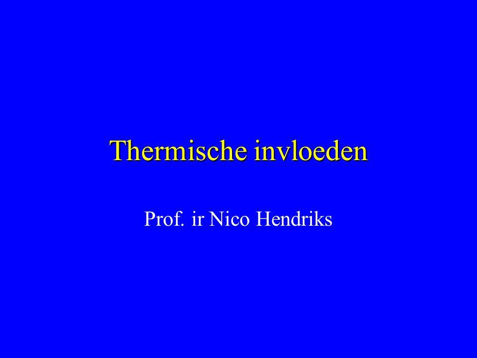 Thermische invloeden Prof. ir Nico Hendriks