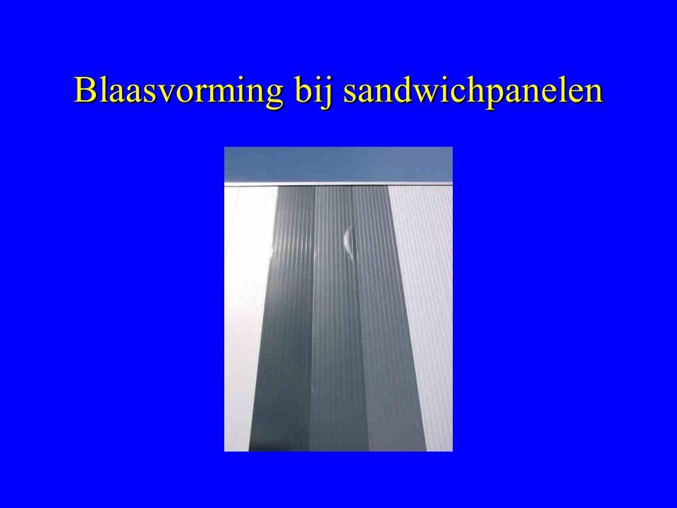 Blaasvorming bij sandwichpanelen