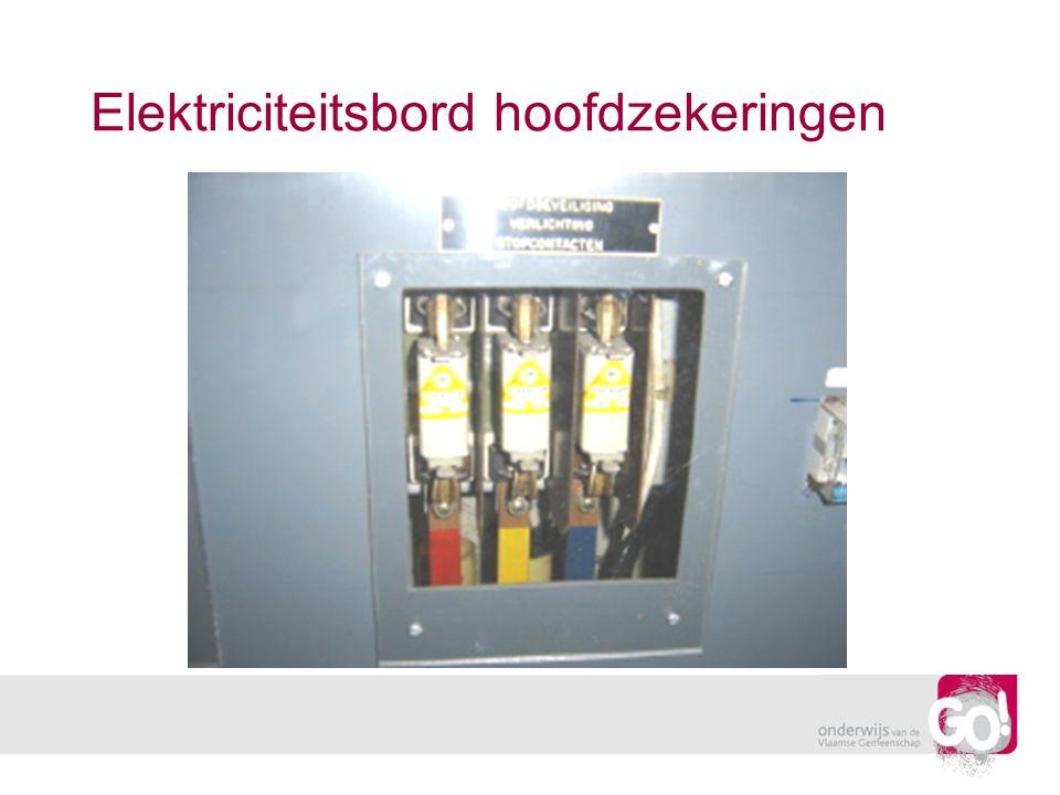 Elektriciteitsbord hoofdzekeringen
