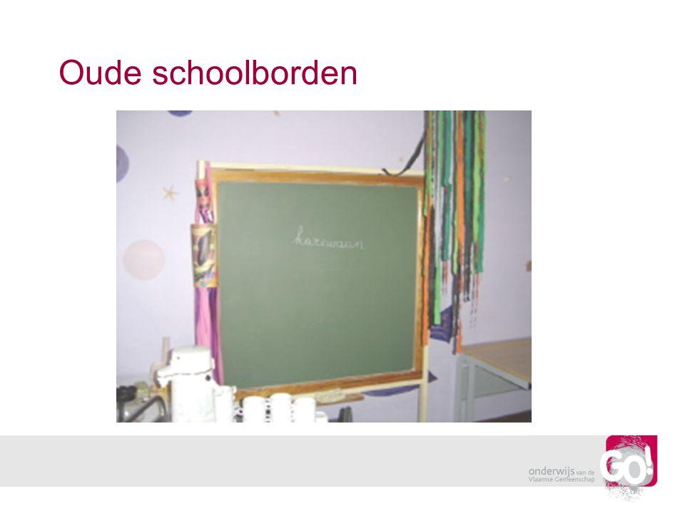 Oude schoolborden
