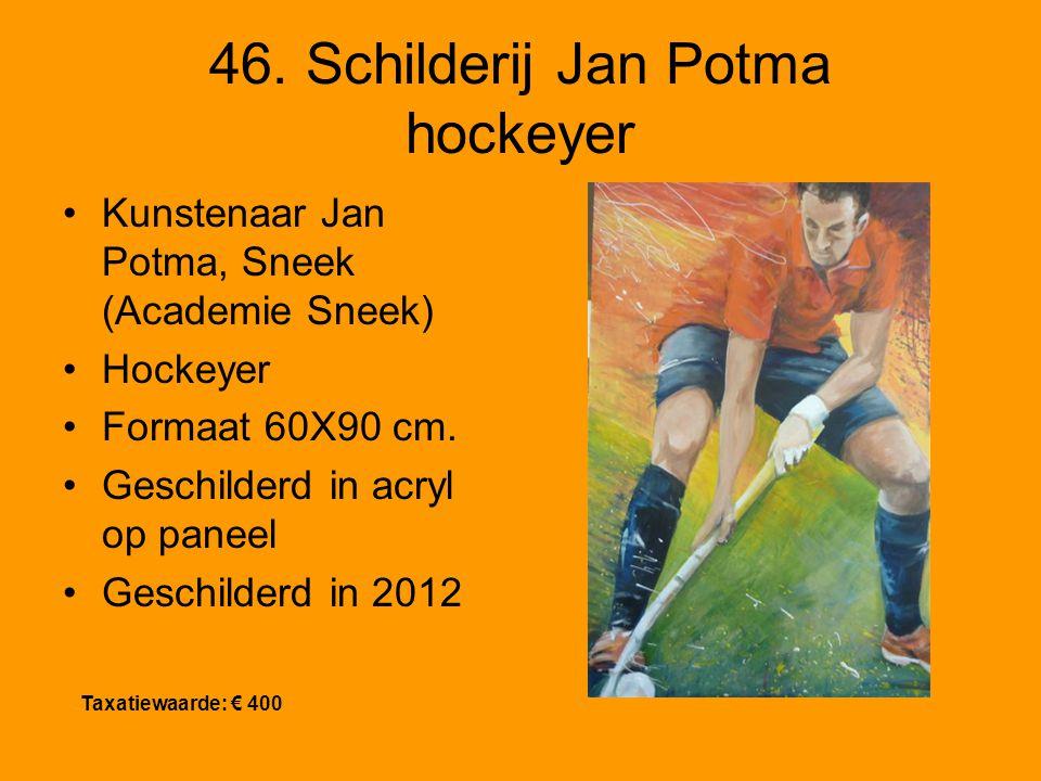 46. Schilderij Jan Potma hockeyer