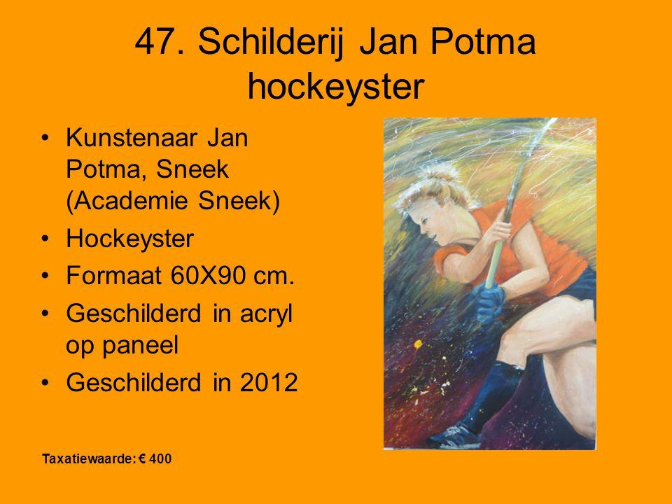 47. Schilderij Jan Potma hockeyster