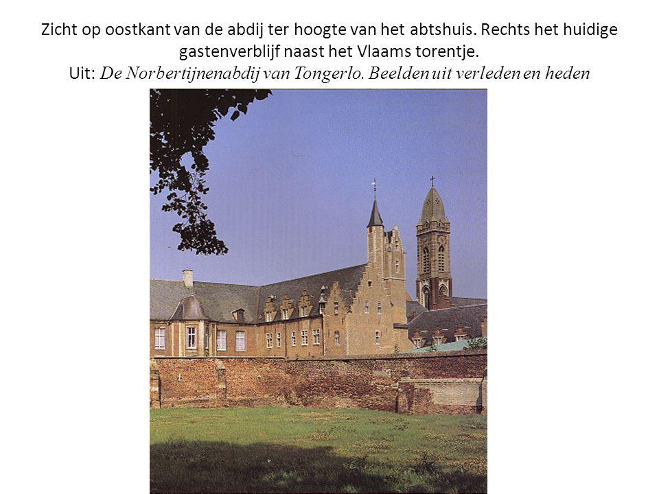Zicht op oostkant van de abdij ter hoogte van het abtshuis