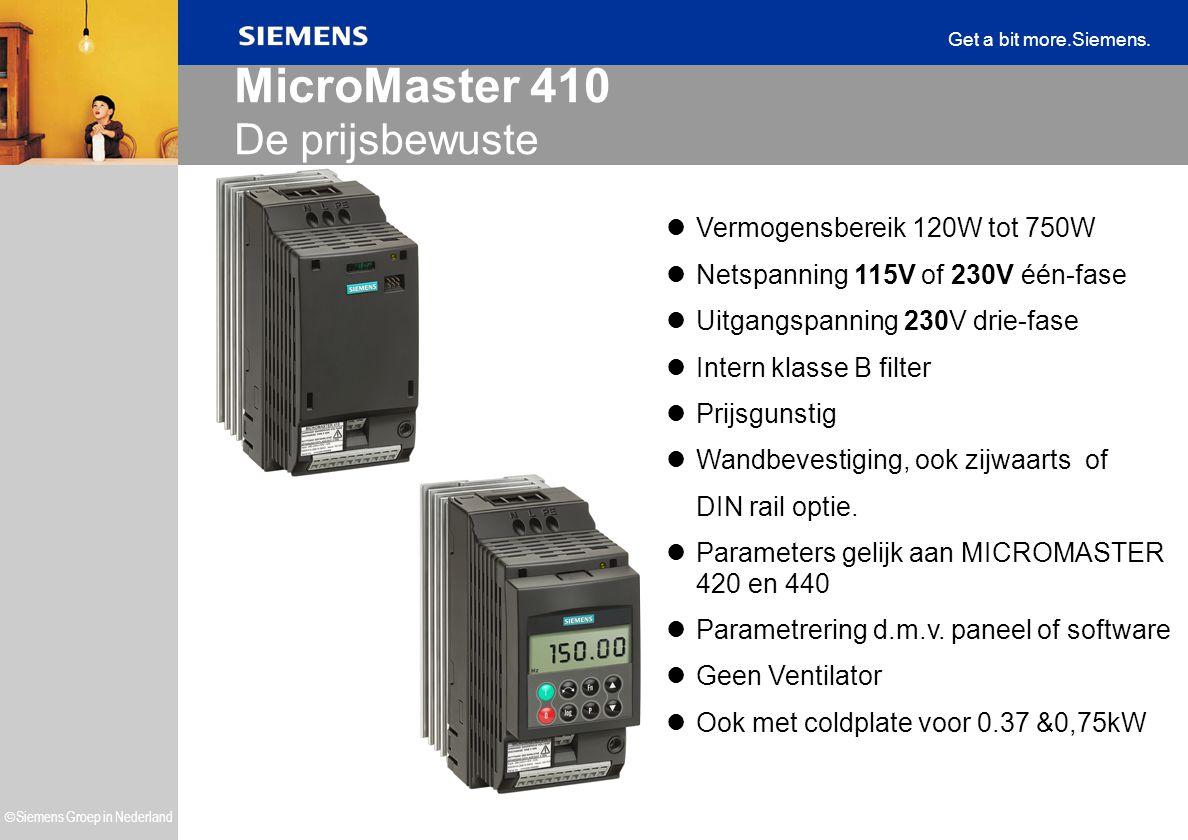 MicroMaster 410 De prijsbewuste