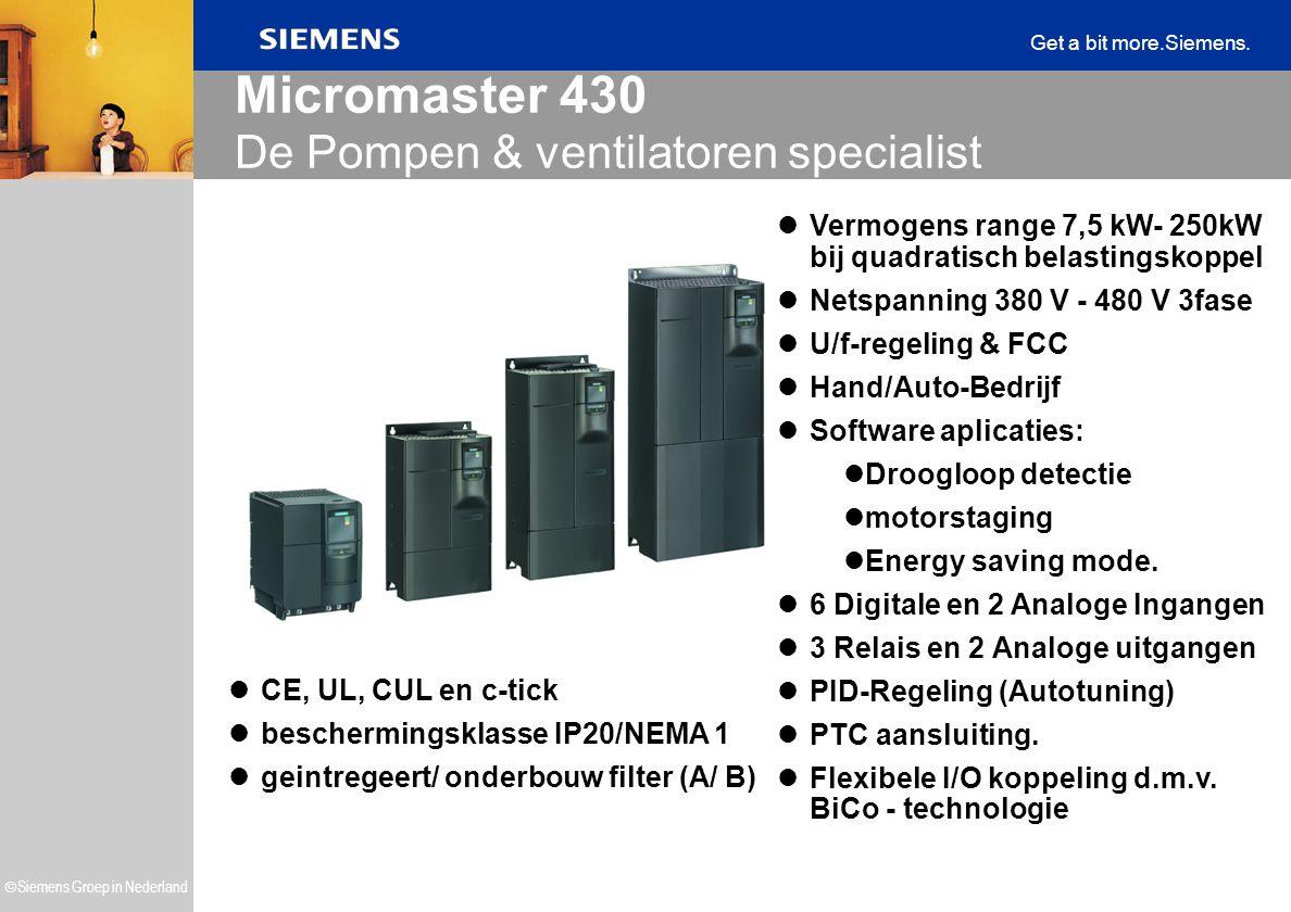 Micromaster 430 De Pompen & ventilatoren specialist