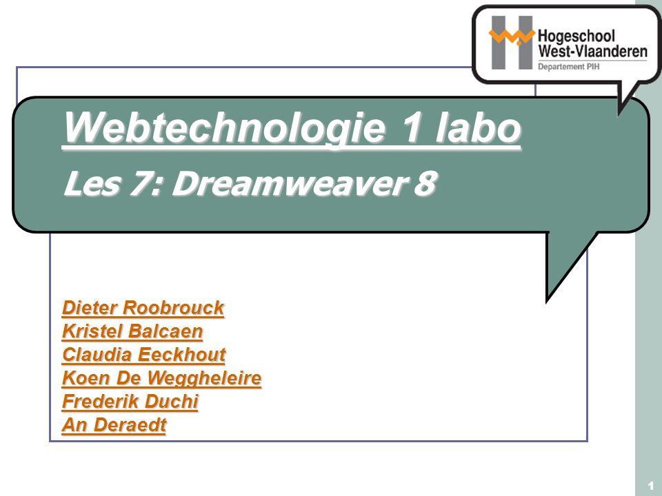 Les 7: Dreamweaver 8