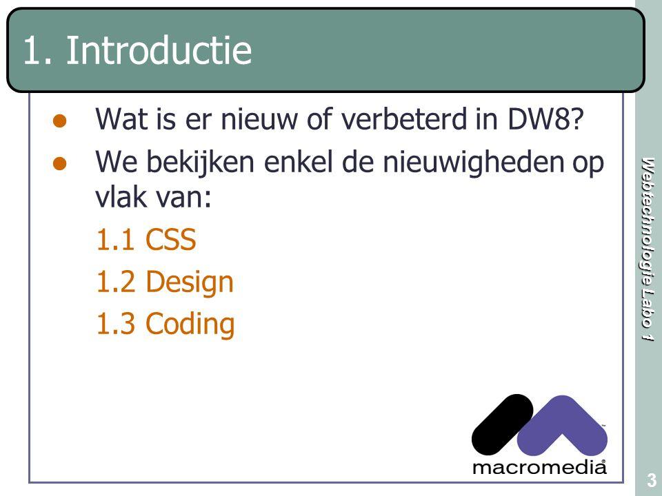 1. Introductie Wat is er nieuw of verbeterd in DW8