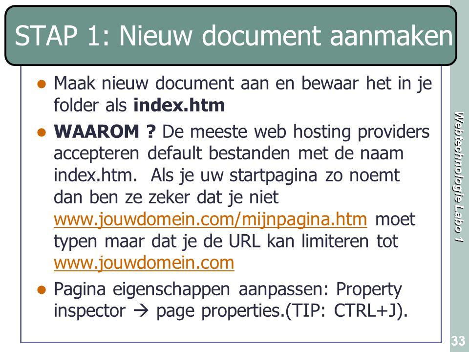 STAP 1: Nieuw document aanmaken