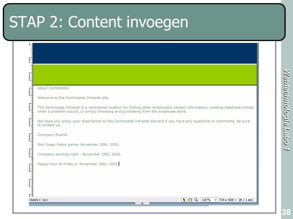 STAP 2: Content invoegen